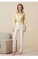 2019 새로운 기질 직업적인 실크 셔츠 긴 소매 여성