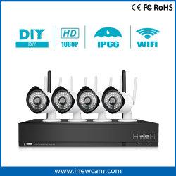 ホットセール 4CH WiFi 2MP NVR キット監視セキュリティシステム