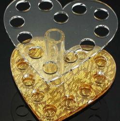 Expositor de acrílico en forma de corazón