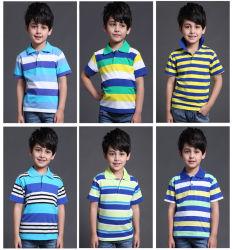2019 Fashion 100% algodão Desporto infantis T-shirt Polo de Desgaste