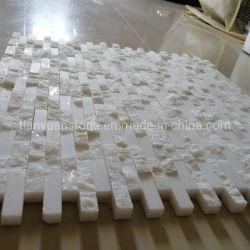 Reine weiße Marmormosaik-Fliese Griechenland-Thassos
