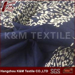 12mm 30%Seda 70% algodão tecido Voile impresso para vestido de mulher