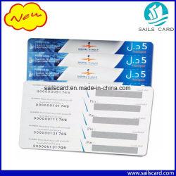 Предоплащенная Cr80 карточка скреста перезарядки многоштыревая бумажная