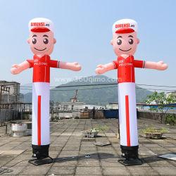 Gran bailarín de dibujos animados de aire inflables inflables / agitando la bailarina a la venta