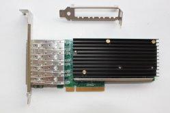 クォードポート10g SFP+のファイバーの光学ネットワークカード4*SFP+ 10gサーバーアダプター