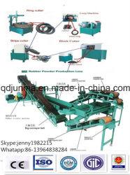 Pneus de ligne de recyclage des déchets, la ligne de production de poudre de caoutchouc Recycline