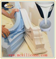 La fabrication de moules en plâtre décoratif du caoutchouc de silicone/silicone Mc