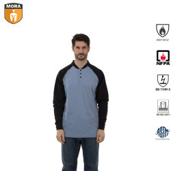 Arbeits-Abnützung kleidet Henley Hemden mit langem Hülsen-Mann-T-Shirt