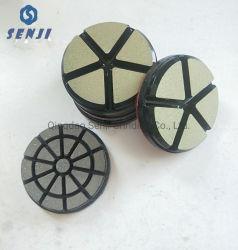 Strumento abrasivo schiavo di ceramica del tampone a cuscinetti per lucidare del pavimento del diamante da 3 pollici per la molatura di pietra e concreta