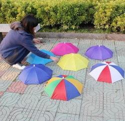 Fördernder kundenspezifischer bunter Minihaupthut-Regenschirm