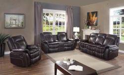 Canapé en cuir d'air inclinables avec couture contrastée pour meubles de salle de vie