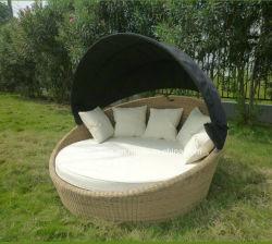 Utilize o jardim espreguiçadeira sofá-cama extras Mobiliário de exterior com canópia