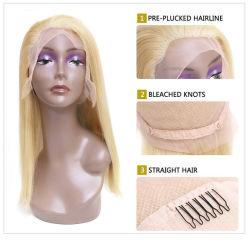 Nouveau style de ligne droite de l'homme Full Lace Wig transparent
