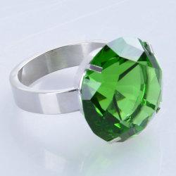anello vetro/metallo di cristallo verde del supporto del tovagliolo del diamante di 60mm