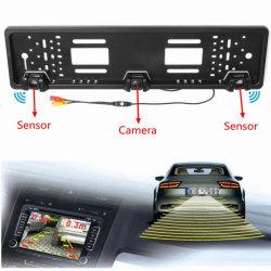 Ес номерного знака автомобиля зеркало заднего вида камера+парковочный датчик радиолокационного датчика