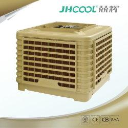Het koelsysteem van de airconditioning heeft een waterkoeler voor verdampte lucht nodig