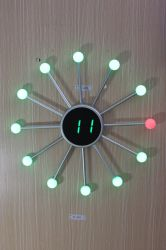 Spider Ball Sun Shap LED Eming Digital Clock مع لون مختلف Jdl-222