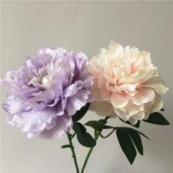Fleurs artificielles de faux Western rose pivoine pour décoration d'accueil