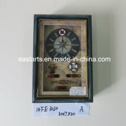 Best-Seller Dom Madeira Caixa Chave da estrutura de madeira com relógio