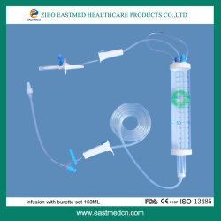 De beschikbare Infusie van de Buret die met de Vastgestelde Medische Apparatuur 150ml wordt geplaatst van de Buret