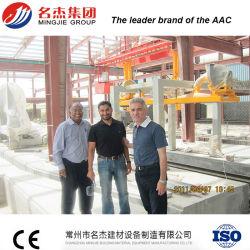 Fábrica de tijolos automática para o processo de fabricação de bloco de concreto leve
