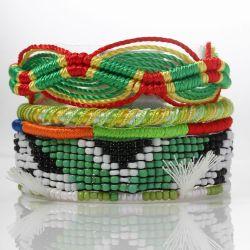 Artesanais com Filete brasileiro pela marca Hipanema braceletes