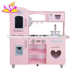 Ready per spedire il gioco di legno dentellare della cucina dei giocattoli impostato per le ragazze W10c566