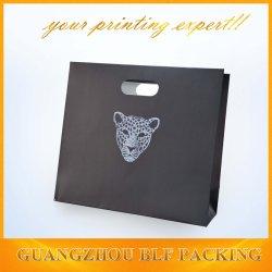 Logotipo de prata quente elegante saco de papel