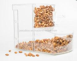 Singular gravedad a granel contenedor de alimentos de acrílico Bin