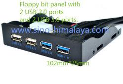 multi pannello frontale di espansione dell'azionamento flessibile del mozzo delle 3.5 '' 2 del USB 2.0 Ports+2 porte del USB 3.0