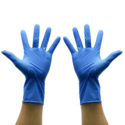 Isentas de látex de alta qualidade azul clara Nitrilo sem pó