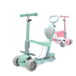 3 светодиодных индикатора колеса регулируемая высота заднего тормоза детей Grip толчок для скутера