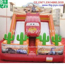 Crazy Inflatable Cool, drôle de voiture de course Diapositive gonflables (BJ-KY38)