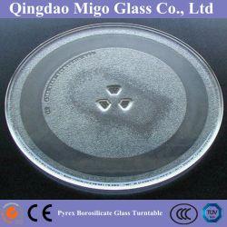 Forno de microondas de borossilicato Pyrex placa giratória de vidro