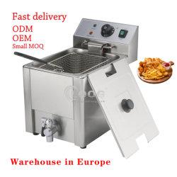 기계 8L를 튀겨 공장 도매가 스테인리스 싱크대 닭은 바구니 부엌을%s 전기 상업적인 감자 칩 깊은 프라이팬을 골라낸다