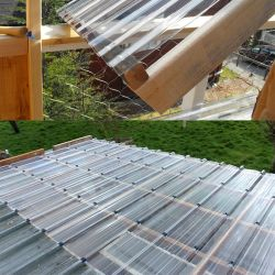 Logistics Warehouse를 위한 강력한 내충격성 FRP 골판지 지붕재