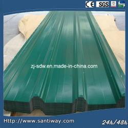 Gutes gewölbtes Metallgebäude-Stahlfarbe passte verwendet im Eisen-Dach-Blatt an