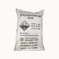 Hydroxyde de potassium KOH de flocons de 90 % de qualité industrielle avec une haute qualité