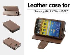 Het mobiele Geval van het Leer van de Telefoon voor de Nota I9220 van de Melkweg van Samsung