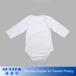 La sublimación de poliéster Bodysuit bebé bebé Manga Corta Chico Chica cuerpo imprimible Baby Rompers Onesie ropa