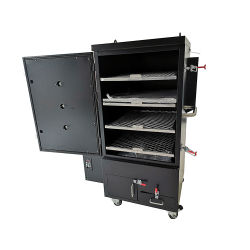Il BBQ elettrico esterno commerciale della pallina cuoce la griglia alla griglia esterna del BBQ di verticale con le doppie pareti
