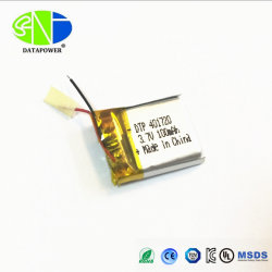 Li-Lon rechargeable 3,7 V 100mAh Batterie intelligente 401720 0,37 WH