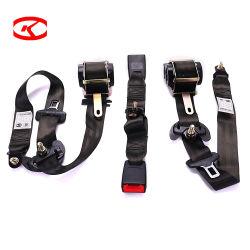مصنّعة المعدات الأصلية (OEM) الفلورسنت العام للسيارات سلامة السيارات الخردة Go Kart Double Buckle Seat Belt مع أداة ضبط آلية السحب
