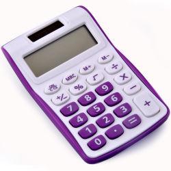 8 Gift van de Kantoorbehoeften van de Calculator van de Student van het Bureau van cijfers de Zonne Elektronische