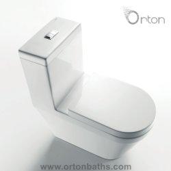 China Wc casa de banho em cerâmica sanitária fornecedor sem rebordo wiring closet Siphonic jato de água um pedaço lavabo com conjunto de montagem de acessórios da capa de banco