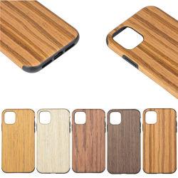 für iPhone 11 maximaler mobiler ProHandy hölzernen PC Kasten-Deckel