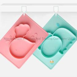 Griglia complementare dell'alimento di cibo Integrated del bambino del silicone del piatto dei bambini