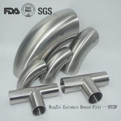 Les mesures sanitaires en acier inoxydable 304 raccord de tuyau de dépression ISO 3d'un DIN 90 plier le coude