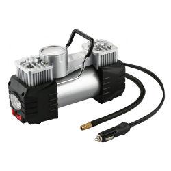 Двойной цилиндр с помощью зажима аккумулятора мини-Car воздушного компрессора