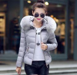 Мода женщин Зимняя куртка с Outwear колпачковая хлопка